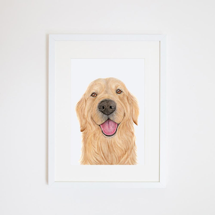 Sid the Golden Retriever Print