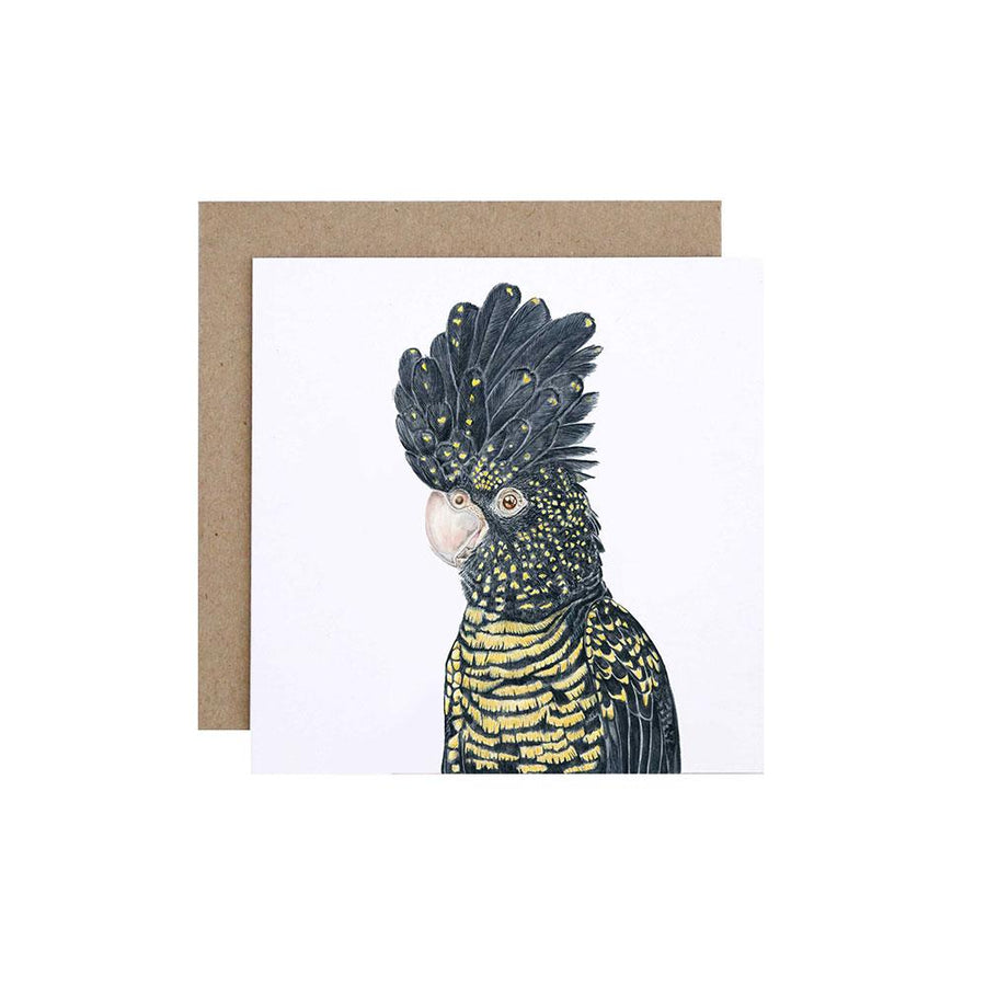 Lily the Red-Tailed Black Cockatoo Greeting Card
