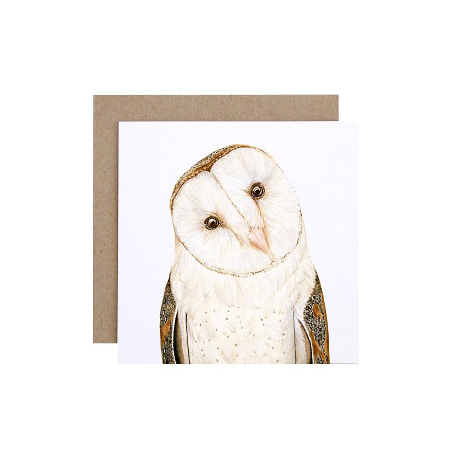Luna the Barn Owl Greeting Card