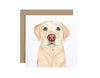 Ollie the Labrador Greeting Card