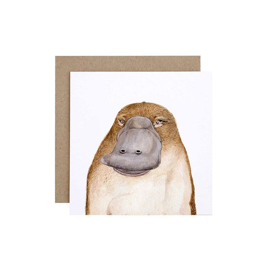 Poppy the Platypus Greeting Card