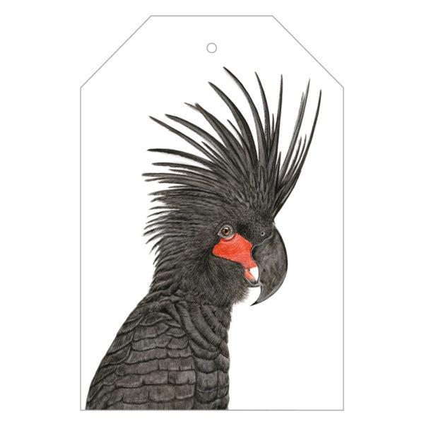 Carlos the Palm Cockatoo Gift Tags