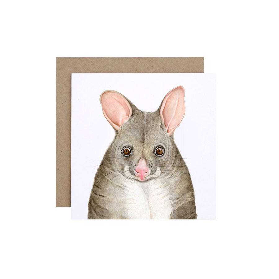 Pat the Possum Greeting Card