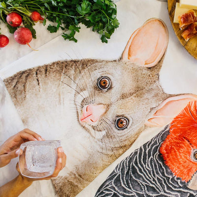 Pat the Possum Tea Towel