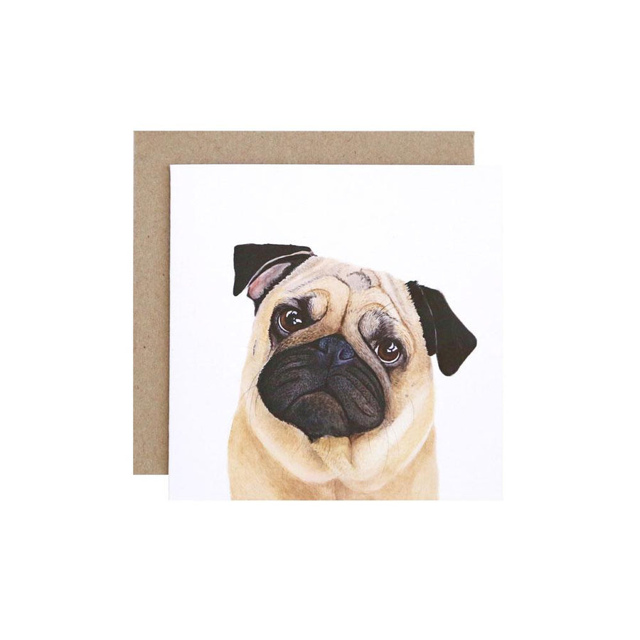 Pedro the Pug Greeting Card