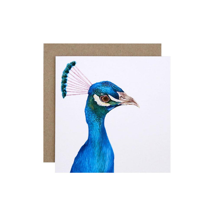 Penny the Peacock Greeting Card