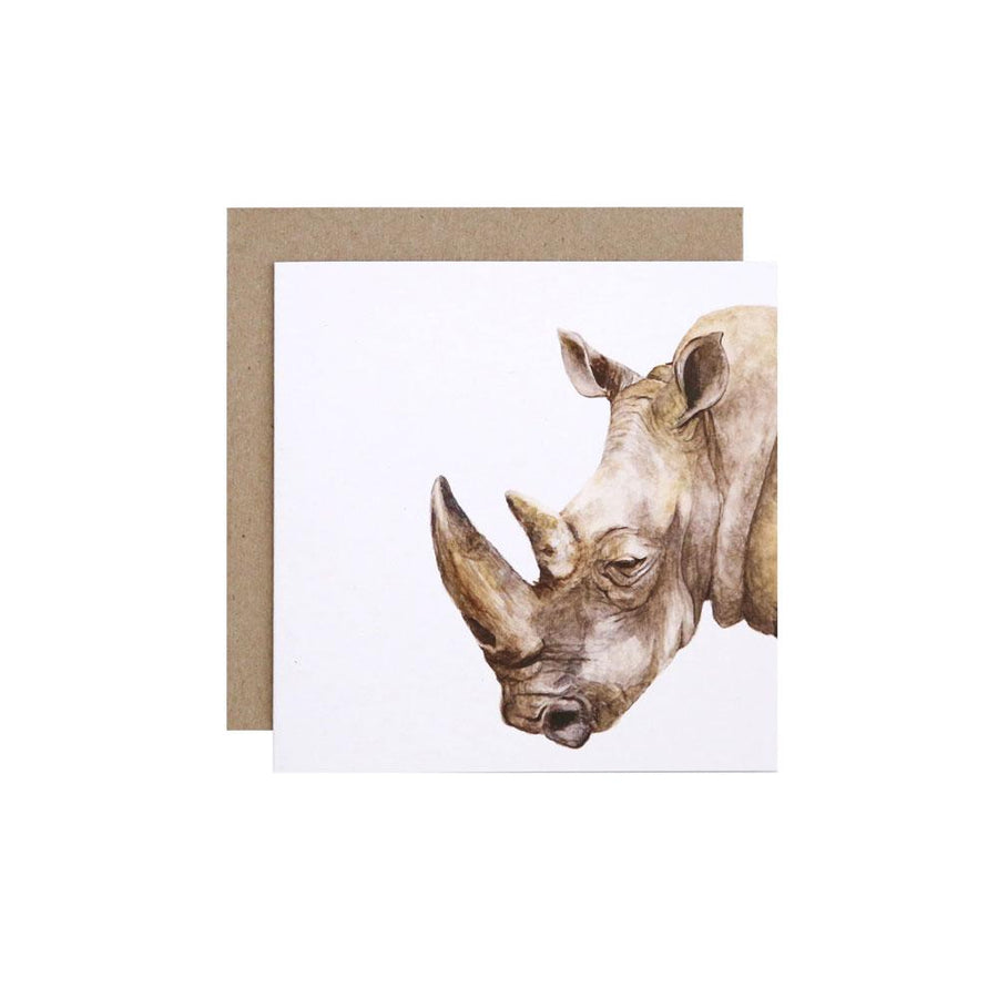 Reg the Rhino Greeting Card