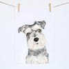 Chloe the Schnauzer Tea Towel
