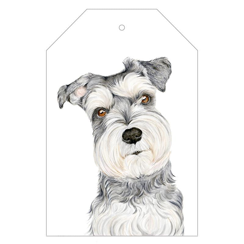 Chloe the Schnauzer Gift Tags