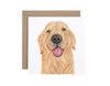 Sid the Golden Retriever Greeting Card