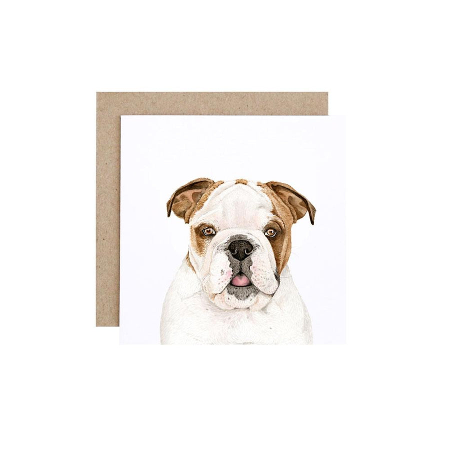Tank the English Bulldog Greeting Card