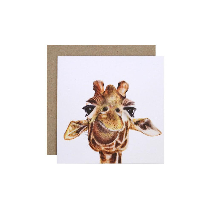 Toby the Giraffe Greeting Card