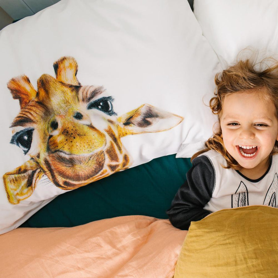 Toby the Giraffe Pillowcase