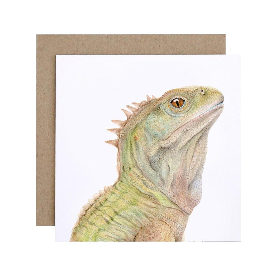 Triton the Tuatara Greeting Card