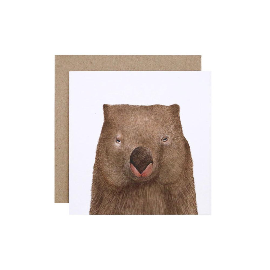 Winston the Wombat Greeting Card