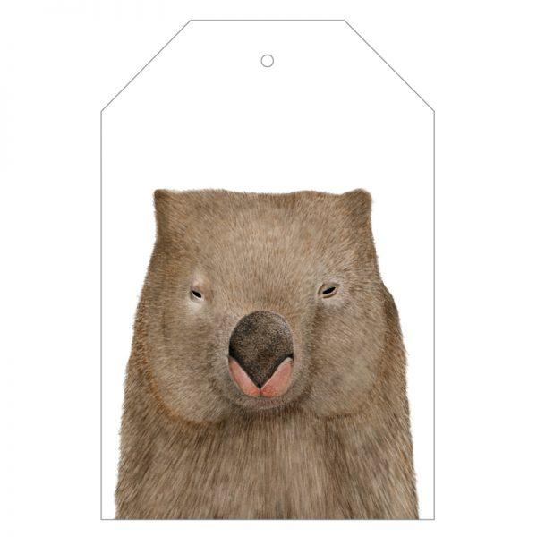 Winston the Wombat Gift Tags