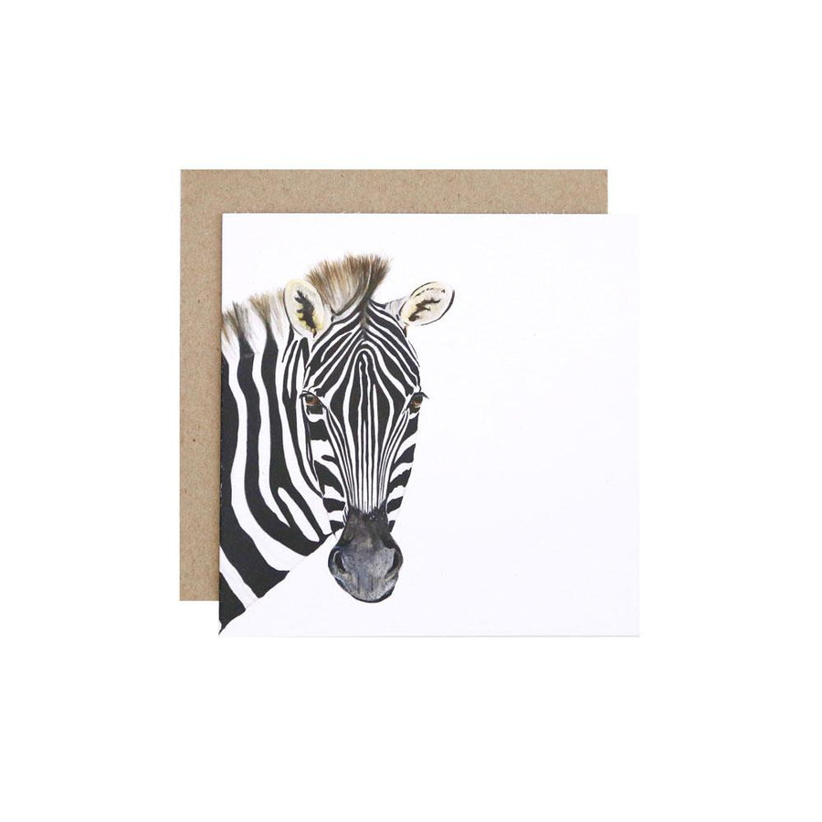 Zoe the Zebra Greeting Card