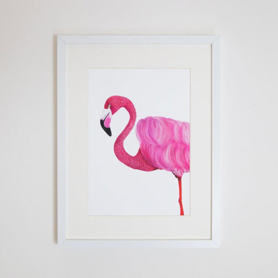 Florence the Flamingo Print