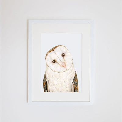 Luna the Barn Owl Print