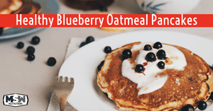 Healthy Blueberry Oatmeal Yogurt Pancakes