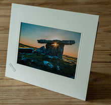 Load image into Gallery viewer, Sunset over the Poulnabrone Dolmen, Co. Clare, Ireland
