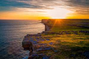 Sunset over Dun Aengus, Inishmore, Ireland