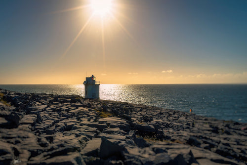Sunset over the Black Head Lighthouse, Co. Clare, Ireland