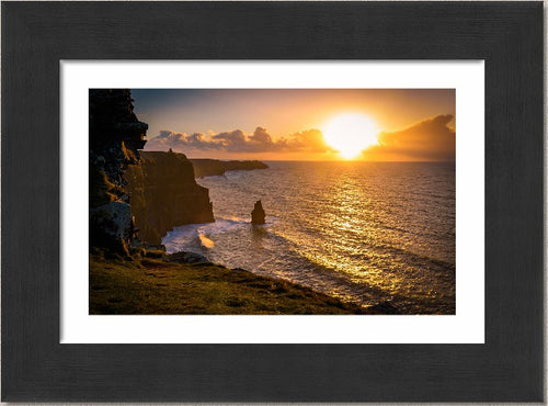 Sunset over the Cliffs of Moher, Co. Clare, Ireland