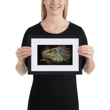 Load image into Gallery viewer, Iguana - Matte Paper Framed Poster With Mat