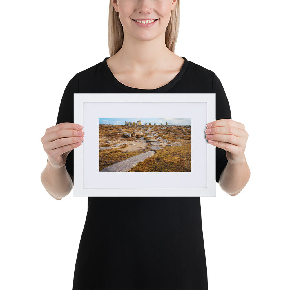 Stone Circle - Matte Paper Framed Poster With Mat