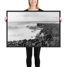 Load image into Gallery viewer, Rough Coast B/W - Framed matte paper poster