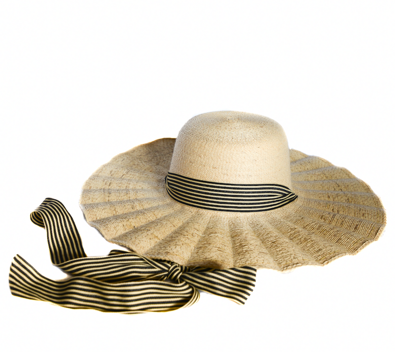 Sunhat, sun hat, beach hat, straw hat, poolside hat, de la Fuente, de la Fuente hats, fashion, fall fashion, los Angeles hats, straw hats, Mexican hat, eco friendly hat, cruelty free hat, de la Fuente millinery, millinery, fedora, wide brim hat, scalloped brim, ribbon hat, scalloped hat, sun hat with ribbon tie, gardening hat, women's hat, women's fashion, boat hat, black hat, tall hat, hand embroidered hat, sispara, sispara hat, ilaria hat, tall hat, cream hat