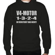 Laden Sie das Bild in den Galerie-Viewer, V4 Motor 1-3-2-4 Hoodie