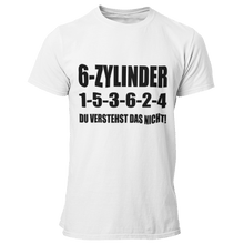 Laden Sie das Bild in den Galerie-Viewer, 6 Zylinder 1-5-3-6-2-4 T-Shirt