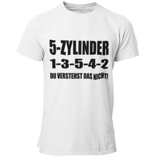 Laden Sie das Bild in den Galerie-Viewer, 5 Zylinder 1-3-5-4-2 T-Shirt