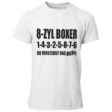 Laden Sie das Bild in den Galerie-Viewer, 8 Zyl Boxer 1-4-3-2-5-8-7-6 T-Shirt