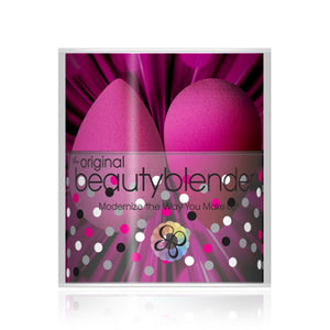 BeautyBlender Pink Double Blenders اسفنجة بيوتي بلندر حبتين