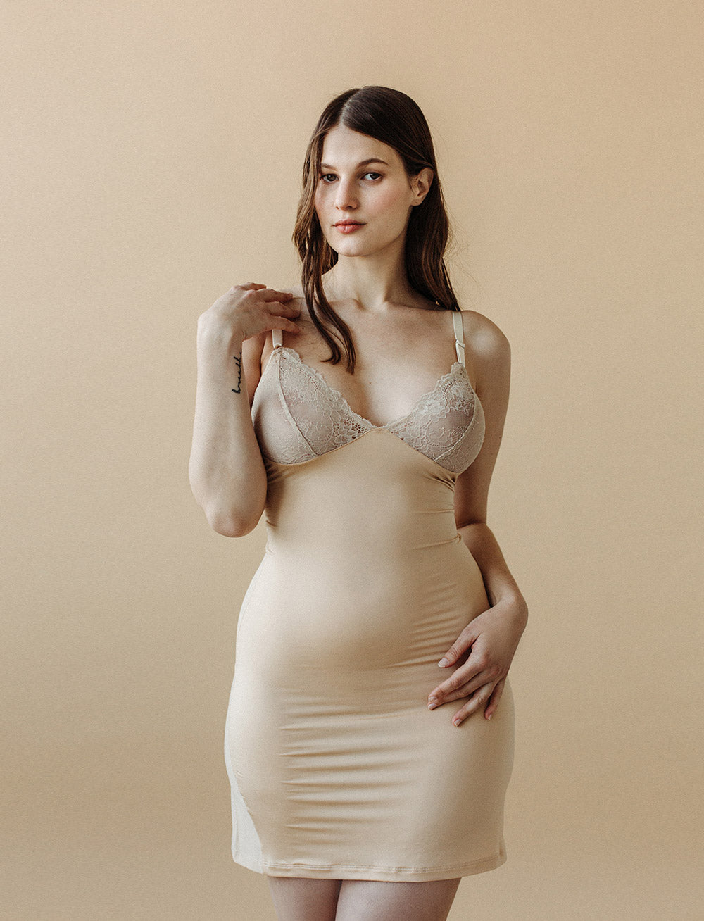 Ivy Classic Cut-Out Slip (Champagne/Ivory)