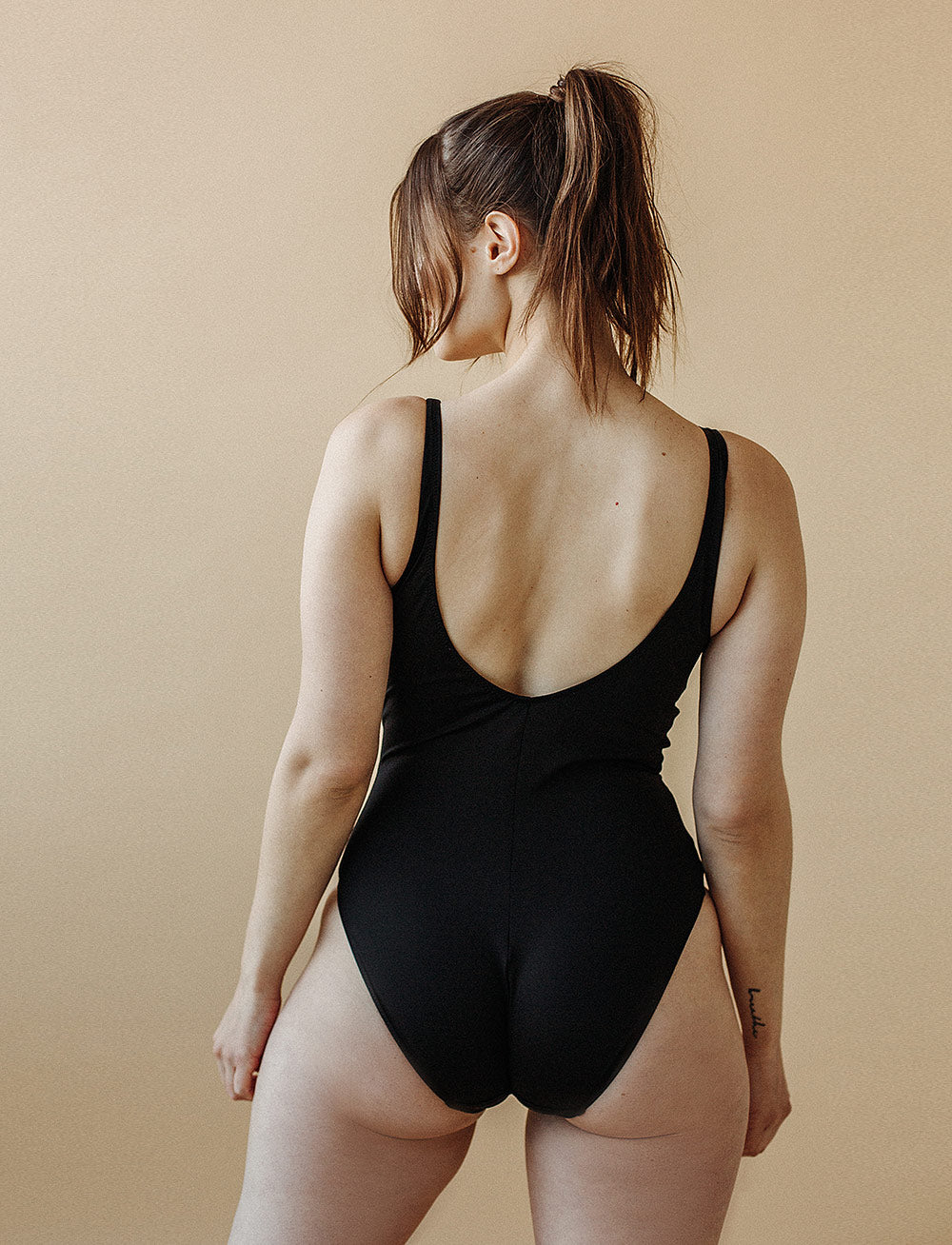 Swim Maillot (Black)