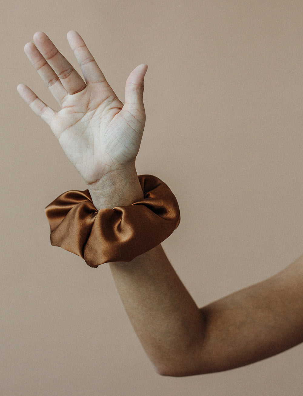 Silk Scrunchie (Bronze)