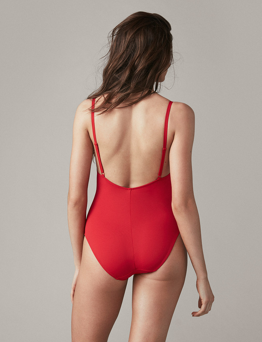 Swim Adjustable Maillot (Scarlet)