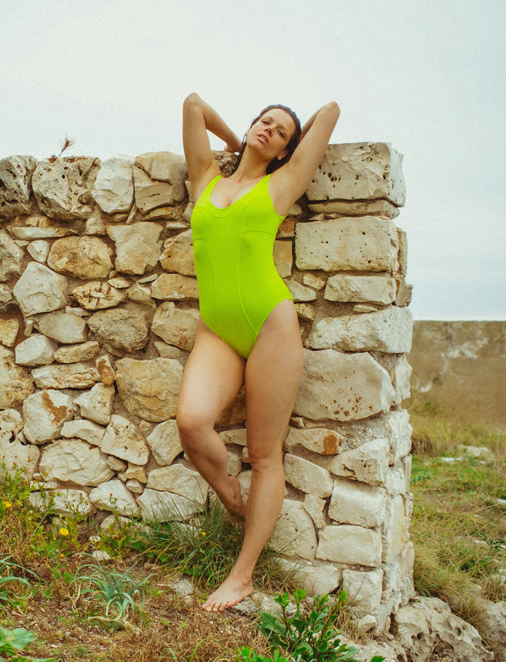 Swim Maillot (Lime)