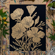 "Load image into Gallery viewer, Golden Poppies | 11x14"" Print"