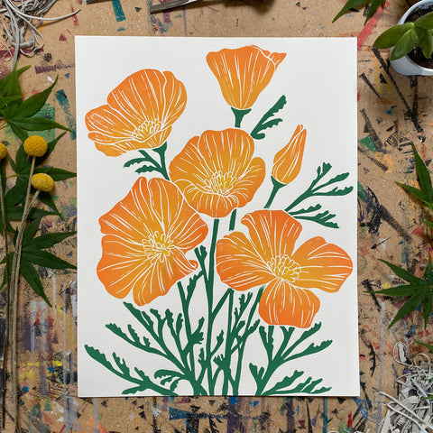 "Golden Poppies | 11x14"" Print"