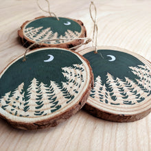 Load image into Gallery viewer, Forest Moon Wood Slice Ornament