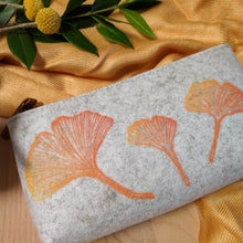 Load image into Gallery viewer, Ginkgo Zipper Pouch in Heather Gray