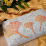 Ginkgo Zipper Pouch in Heather Gray