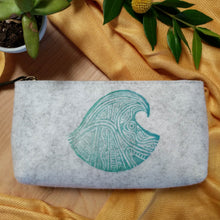 Load image into Gallery viewer, Wave Zipper Pouch in Heather Gray