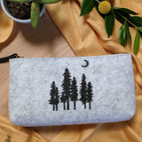 Tree Pouch in Heather Gray
