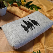 Load image into Gallery viewer, Tree Pouch in Heather Gray